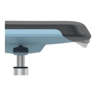 bimos Arbeitsdrehstuhl Labsit m.Gleitern/Fußring Supertec Sitzschale weiß Sitzhöhe 520