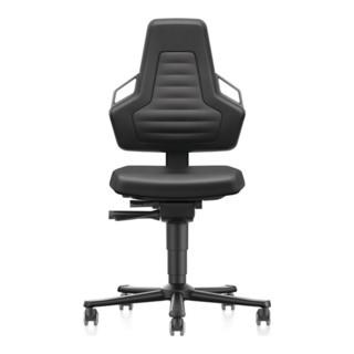 bimos Arbeitsdrehstuhl Nexxit Rollen Integralschaum schwarz 450-600mm
