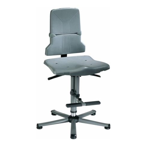 bimos Arbeitsdrehstuhl Sintec Sitz und Rückenlehne Kunststoff Gleiter Aufstiegshilfe