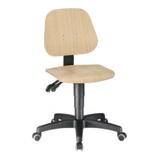 Bimos Arbeitsdrehstuhl Unitec mit Rollen, Buche, Sitz-Höhe 440-620mm