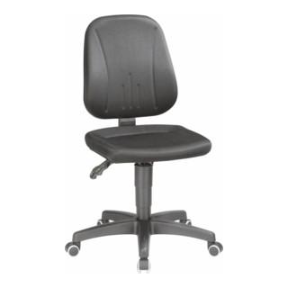 bimos Arbeitsdrehstuhl Unitec mit Rollen und Stoff schwarz Sitzhöhe 440-620 mm