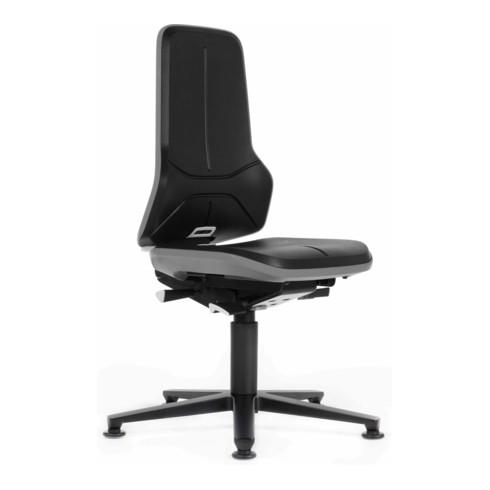 bimos Arbeitsstuhl Neon Basisstuhl mit Gleiter Flexband grau Sitzhöhe 450-620 mm ohne Polster