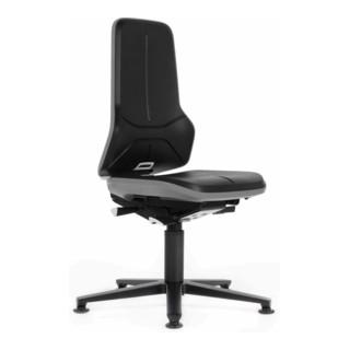 bimos Arbeitsstuhl Neon Basisstuhl mit Gleiter Flexband grau Sitzhöhe 450 620 mm ohne Polster