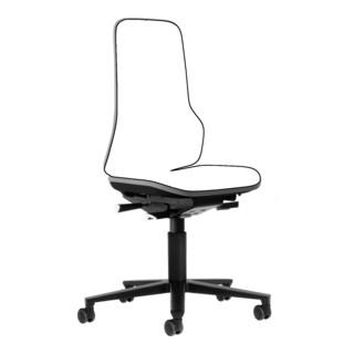 bimos Arbeitsstuhl Neon Basisstuhl mit Rollen Flexband grau Sitzhöhe 450-620 mm ohne Polster