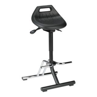 bimos Industriestehhilfe PU Sitz klappbar Sitzhöhe 640 840 mm