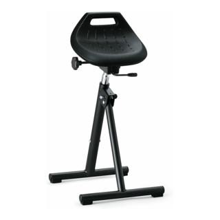 bimos Industriestehhilfe PU-Sitz klappbar Sitzhöhe 650-850 mm