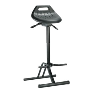 bimos Stehhilfe Profi mit klappbarer Fußablage schwarz Sitz-H.640-840mm