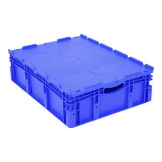 Bito Eurostapelbehälter EX mit Doppelboden und anscharniertem zweiteiligem Klappdeckel