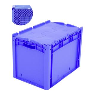 Bito Eurostapelbehälter XL mit Rippenboden RX und anscharniertem zweiteiligen Klappdeckel