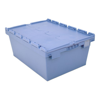 Bito Mehrwegbehälter Doppelboden Klappdeckel L 800 mm x B 600 mm x H 353 mm blau
