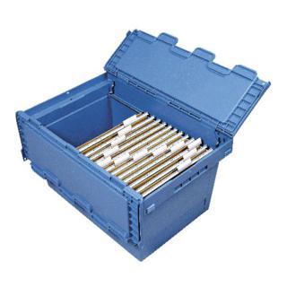 Bito Mehrwegbehälter für Hängemappen L 600 mm x B 400 mm x H 340 mm blau