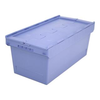Bito Mehrwegbehälter mit Deckel/Bügel/Kufe / MBD84321 L800xB400xH353 mm, taubenblau