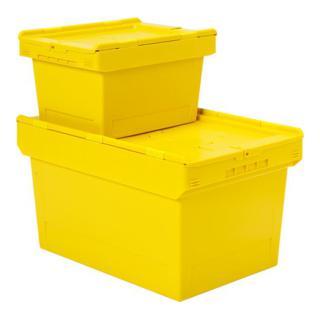 Bito Mehrwegbehälter für Posteinsatz mit anscharniertem zweiteiligem Klappdeckel