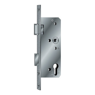 BKS Glastür-Einsteckschloss PZW 20/45/72/8mm DINlinks silber ktg.