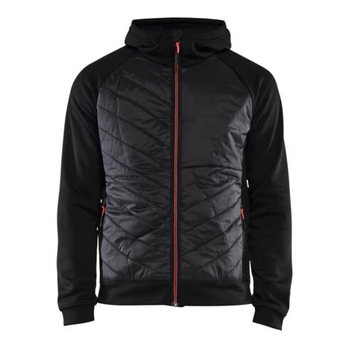 Blakläder Hybrid Sweater Service Plus, schwarz / rot, Unisex-Größe: L