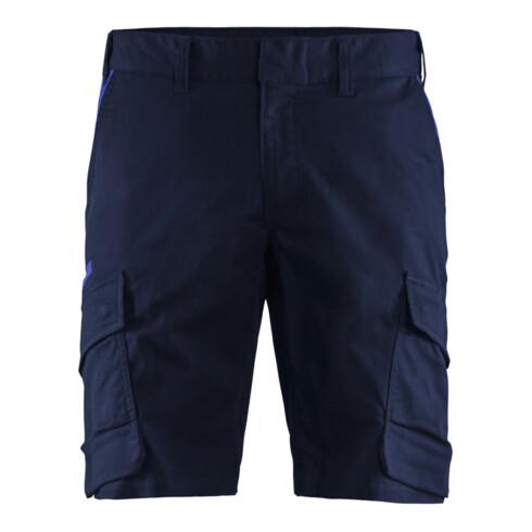 Blakläder Shorts Industrie Stretch, marineblau / kornblau, Konfektionsgröße DE: 60