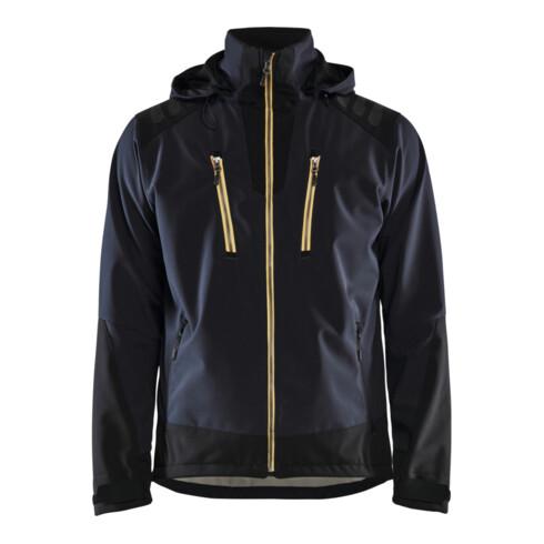 Blakläder Softshell Jacke, dunkelblau / gelb, Unisex-Größe: L