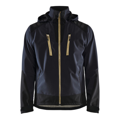 Blakläder Softshell Jacke, dunkelblau / gelb, Unisex-Größe: M