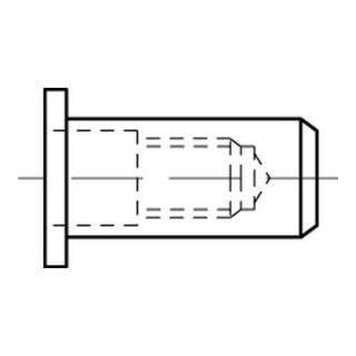 Blindnietmuttern geschlossen Alu Flachkopf M 6 / 0,5 - 3,0 S