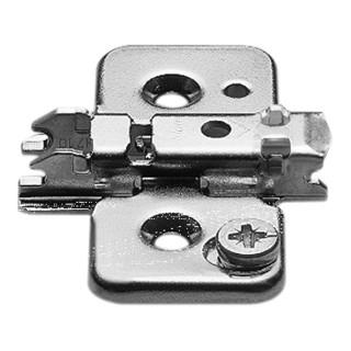 Blum CLIP Montageplatte, kreuz, 0 mm, Stahl, Schrauben, HV: Exzenter, vernickelt