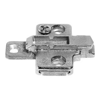 Blum Montageplatte CLIP kreuz 0 mm Zink Systemschrauben HV 2-teilig