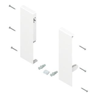 Blum TANDEMBOX Fronthalter, Höhe D, für Innenauszug mit 1-fach Reling, links/rechts, für TANDEMBOX antaro, seidenweiss