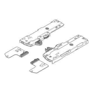 Blum TIP-ON BLUMOTION Set (Einheit + Mitnehmer) für LEGRABOX/MOVENTO Typ L1 Nennlänge 350-750 mm Gesamtgewicht des Auszugs 0-20 kg links/rechts