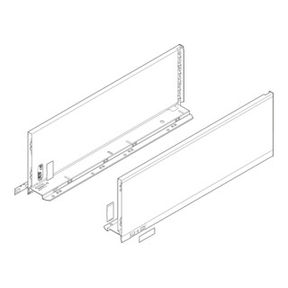 Blum Zarge LEGRABOX Höhe C (177,0 mm) links/rechts für LEGRABOX pure