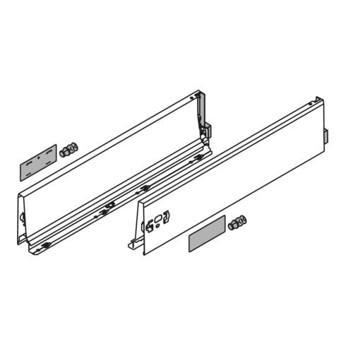 Blum Zarge TANDEMBOX Höhe K (115 mm) für TANDEMBOX antaro