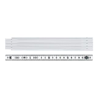 BMI Gliedermaßstab 1042 L.2m mm/cm EG III Ku.weiß