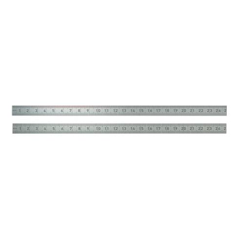 BMI Stahlmaßstab 962 L.300mm Q.13x0,5mm 1/2mm-1/1mm biegsam rostfrei