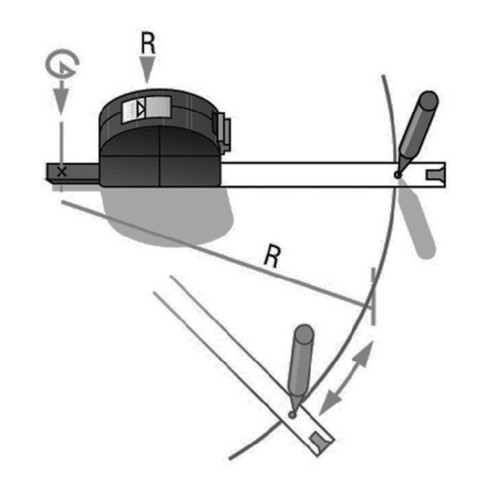 BMI Taschenrollbandmaß VISO L.3m Band-B.16mm mm/cm EG II PA