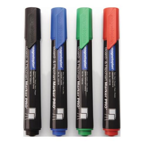 Boardmarker blau/grün/rot/schwarz Strich-B.1,5-3mm Rundspitze MAGNETOPLAN