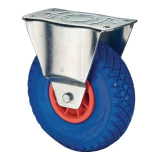 Bockrolle D. 400 mm Trgf. 200 kg pannensicher, Kunststoff Platte 150x150mm