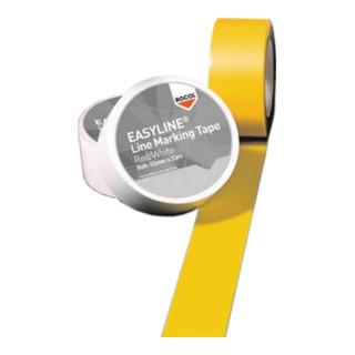 Bodenmarkierungsband Länge 33m, Breite 75mm gelb, Rolle