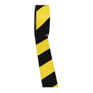 Bodenmarkierungsband Länge 33m, Breite 75mm schwarz-gelb gestreift, Rolle