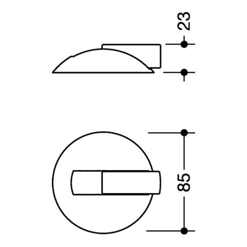 Bodentürpuffer 625B 99 D.85mm H.22,5mm Ku.99 reinweiß ma Dübelmontage HEWI