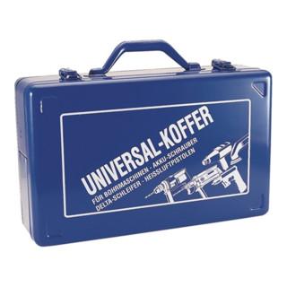 Bohrmaschinenkoffer blau 390x240x112mm Stahlblech m.Ku.-Einlage