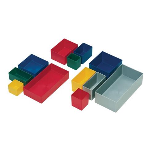 Boîte compartimentable 198 x 99 x 40 mm rouge PS p. tiroirs et boîtes assorties