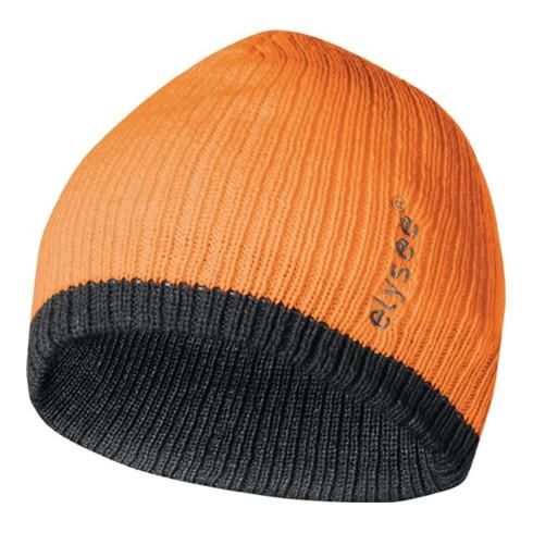 Bonnet tricoté Georg universel orange/gris 100 % polyacrylique FELDTMANN