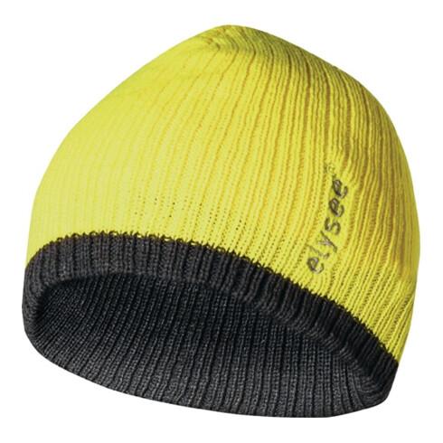 Bonnet tricoté Marisu universel jaune/gris 100 % polyacrylique FELDTMANN