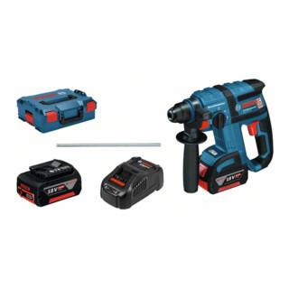 Bosch Akku-Bohrhammer mit SDS plus GBH 18 V-EC mit 2 x 5,0 Ah Li-Ion Akku L-BOXX