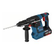 Bosch Akku-Bohrhammer mit SDS plus GBH 18V-26 F mit 2 x 5,0 Ah Li-Ion Akku L-BOXX