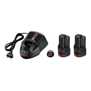 Bosch Akku-Set Starter-Set, 2 x GBA 10,8 V 2,5 Ah O-B, AL 1130 CV