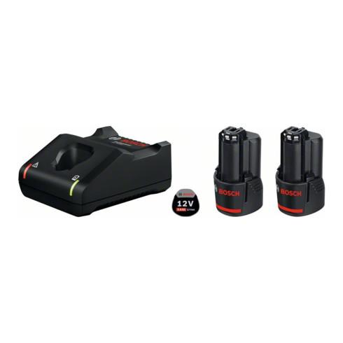 Bosch Akku Starter-Set: 2 x GBA 12 Volt 3,0 Ah und GAL 12V-40