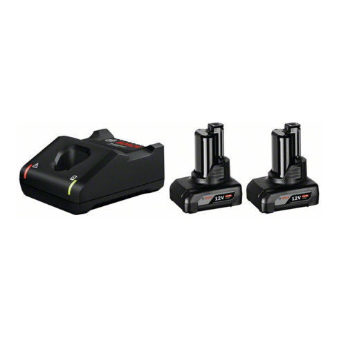 Bosch Akku Starter-Set: 2 x GBA 12 Volt 6,0 Ah und GAL 12V-40
