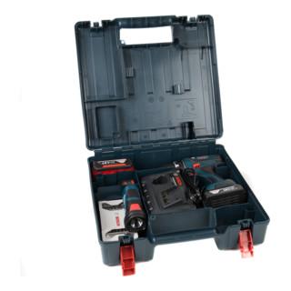 Bosch Bohrschrauber GSR 18-2-LI Plus + Akku-Leuchte GLI 12V-80 inkl. Kombiladegerät 12V/18V