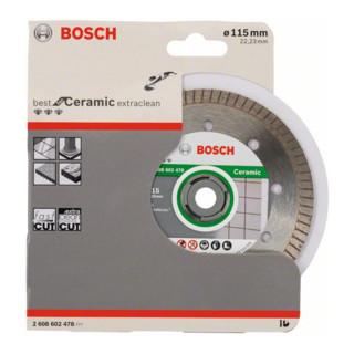 Bosch Diamanttrennscheibe Best for Ceramic Extra-Clean Turbo 115 x 22,23 x 1,4 x 7 mm