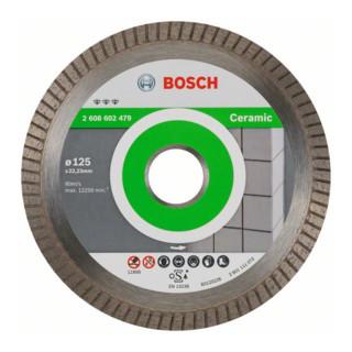 Bosch Diamanttrennscheibe Best for Ceramic Extra-Clean Turbo, 125 x 22,23 x 1,4 x 7 mm