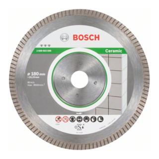 Bosch Diamanttrennscheibe Best for Ceramic Extra-Clean Turbo 180 x 22,23 x 1,6 x 7 mm